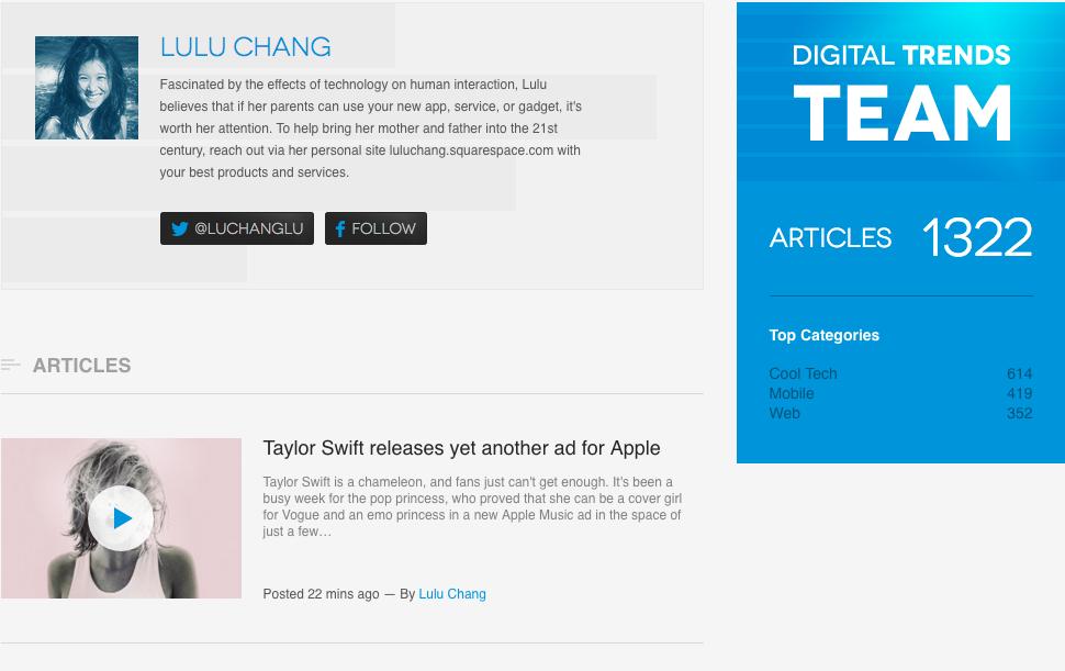 Digital Trends author profile