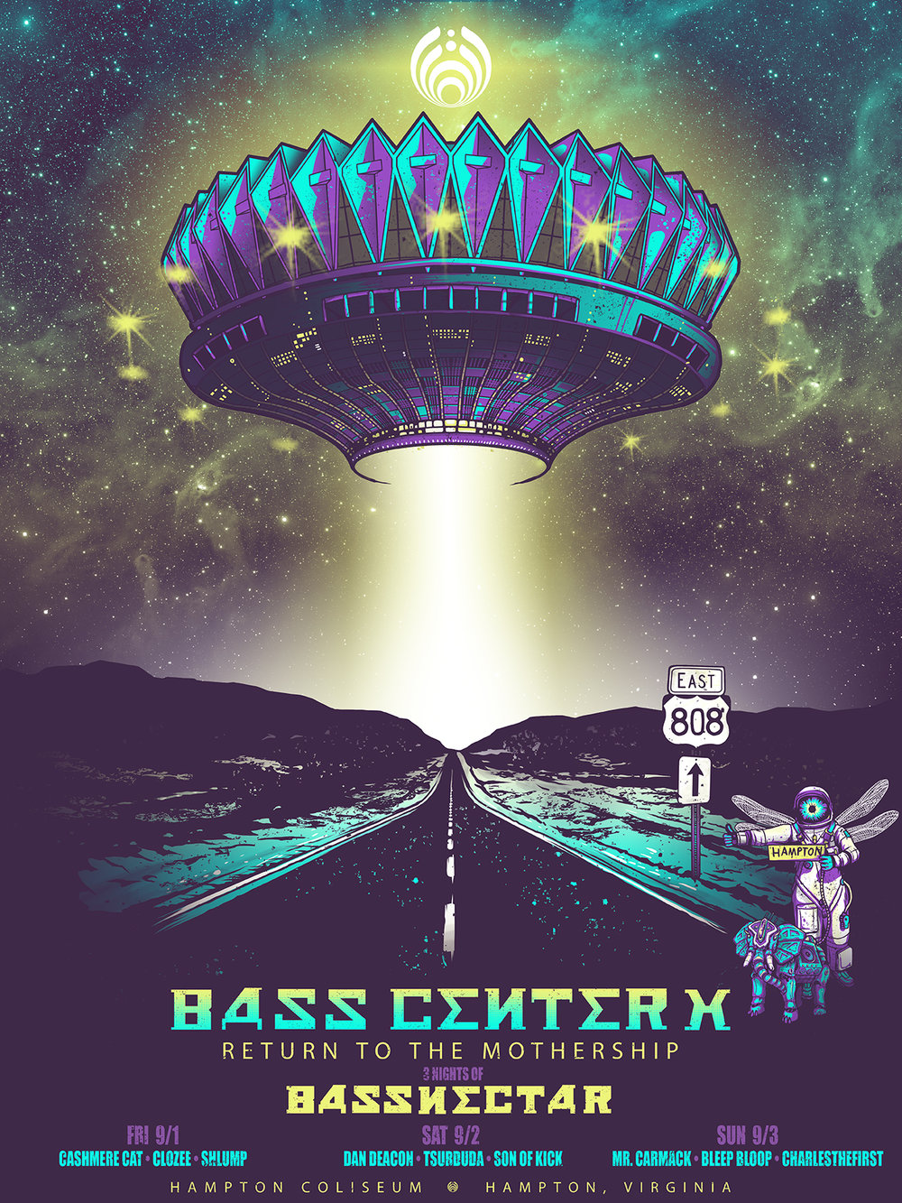 Basscenter X - Official Screenprint
