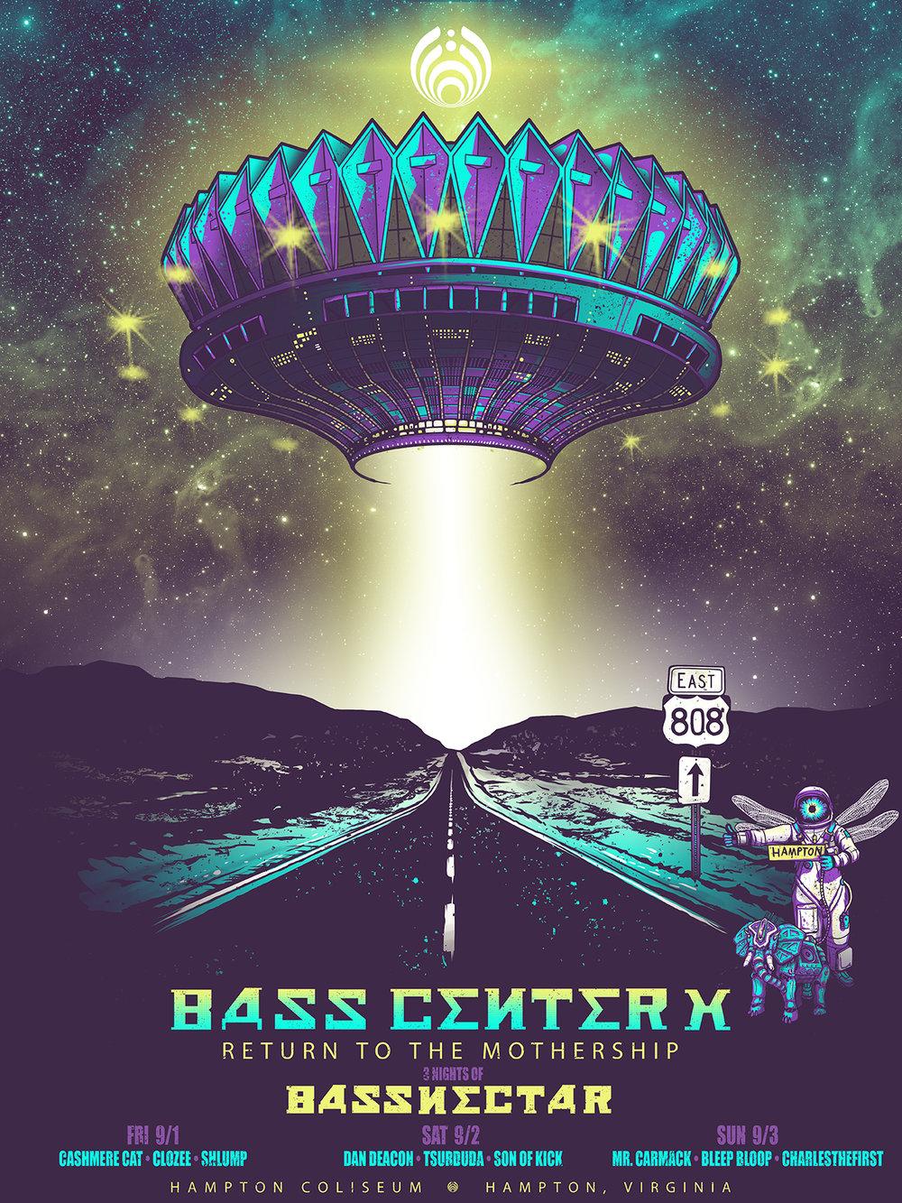 Basscenter X - Official Screenprint
