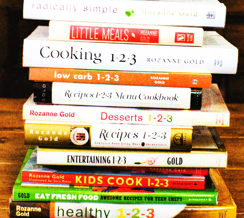 Rozanne's Recipes, stacked together.