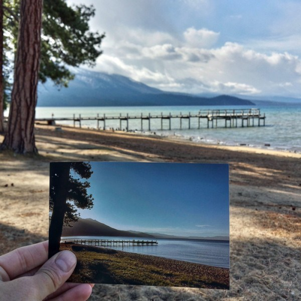Valhalla Pier in South Lake Tahoe, California | June 1981 & May 2015