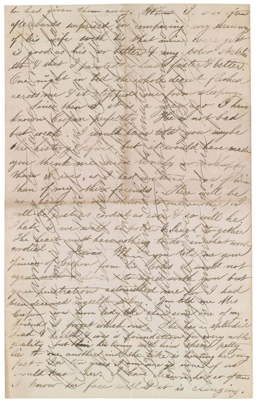 Thomas Eakins, letter to Frances Eakins, March 26, 1869, continued