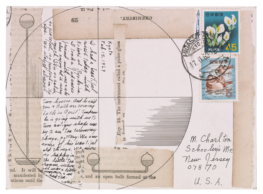 Lenore Tawney (141), postcard to Maryette Charlton, February 15, 1969