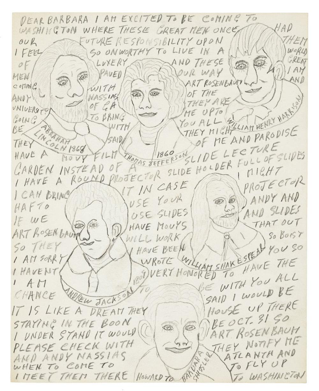 Howard Finster (65), letter to Barbara Shissler, 1981