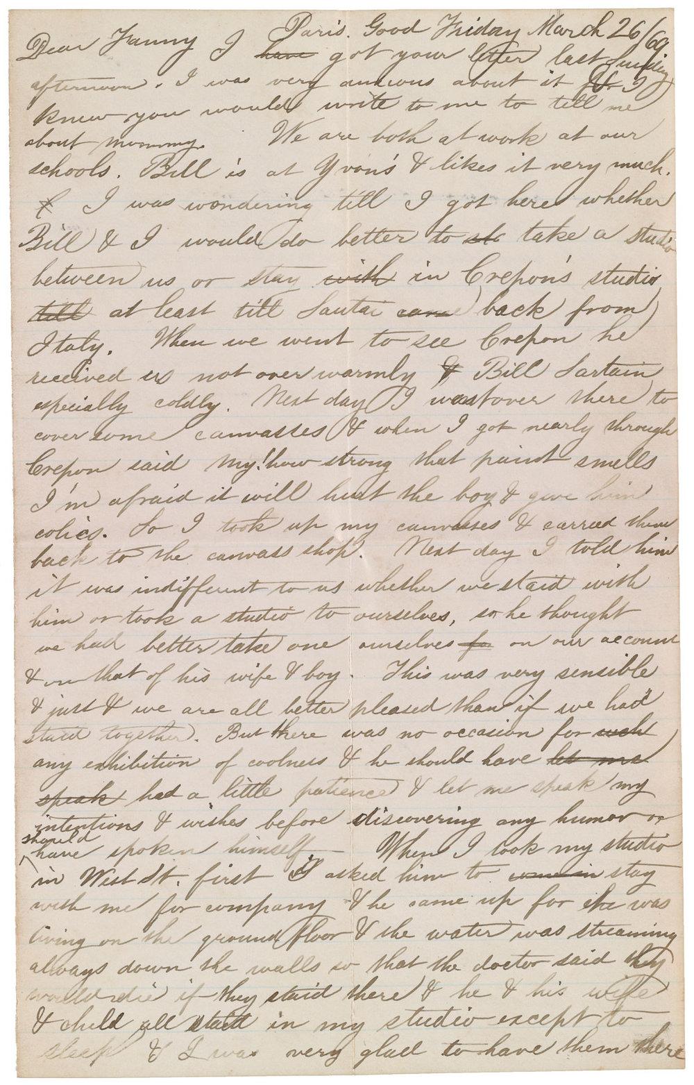 Thomas Eakinss Precise Pen O Akela Reason Handwritten