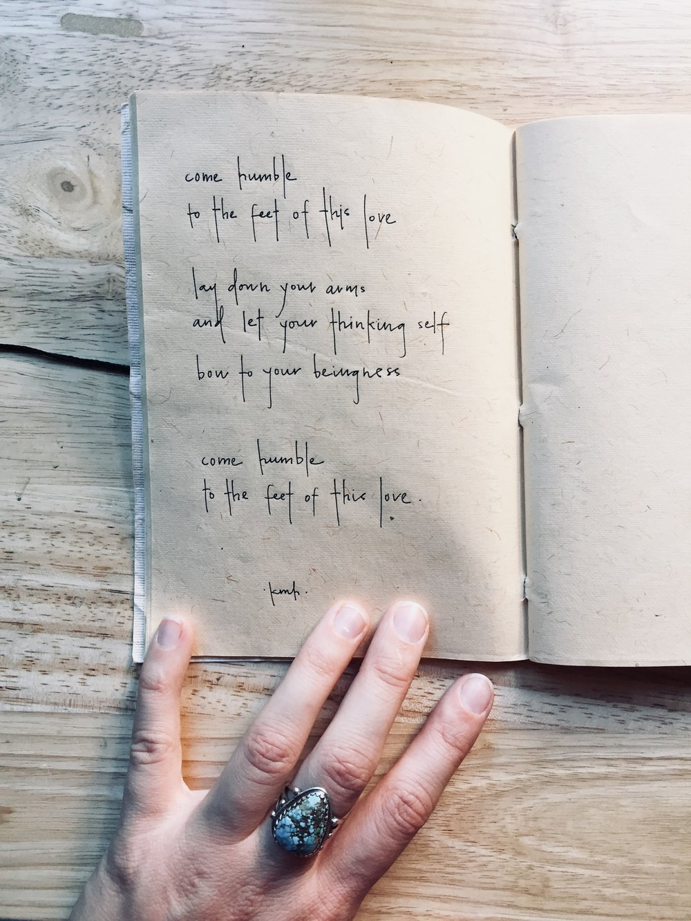 Notes from My Soul in the Morning • Kate Hoyle — handwritten