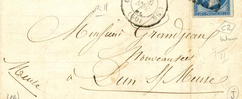 """Invoice """"Passementerie pour Ameublements,"""" 1851"""
