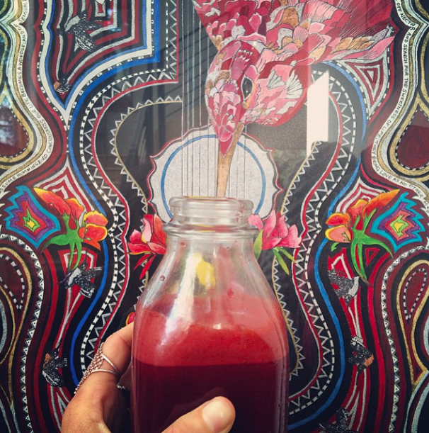 Incredible hummingbird visionary art by  Cvita Mamic, drinking the healthy nectar of my sweet juice.