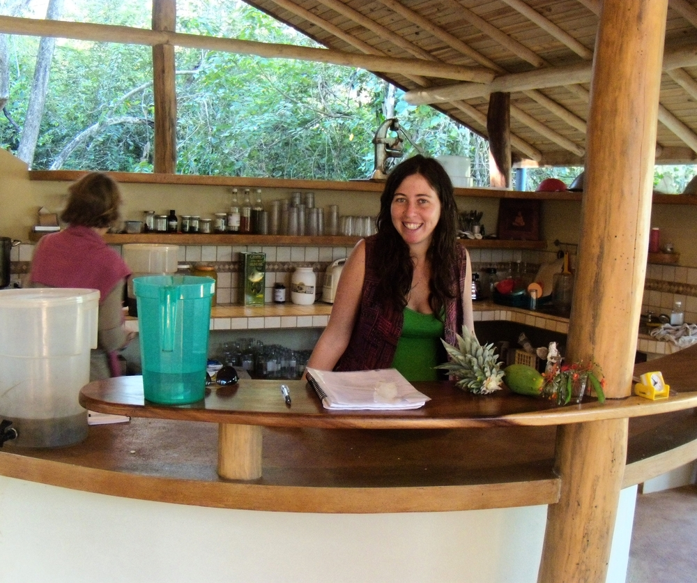 This is Tamara from Israel who was one of the goddesses making our juices in the jungle kitchen every day!