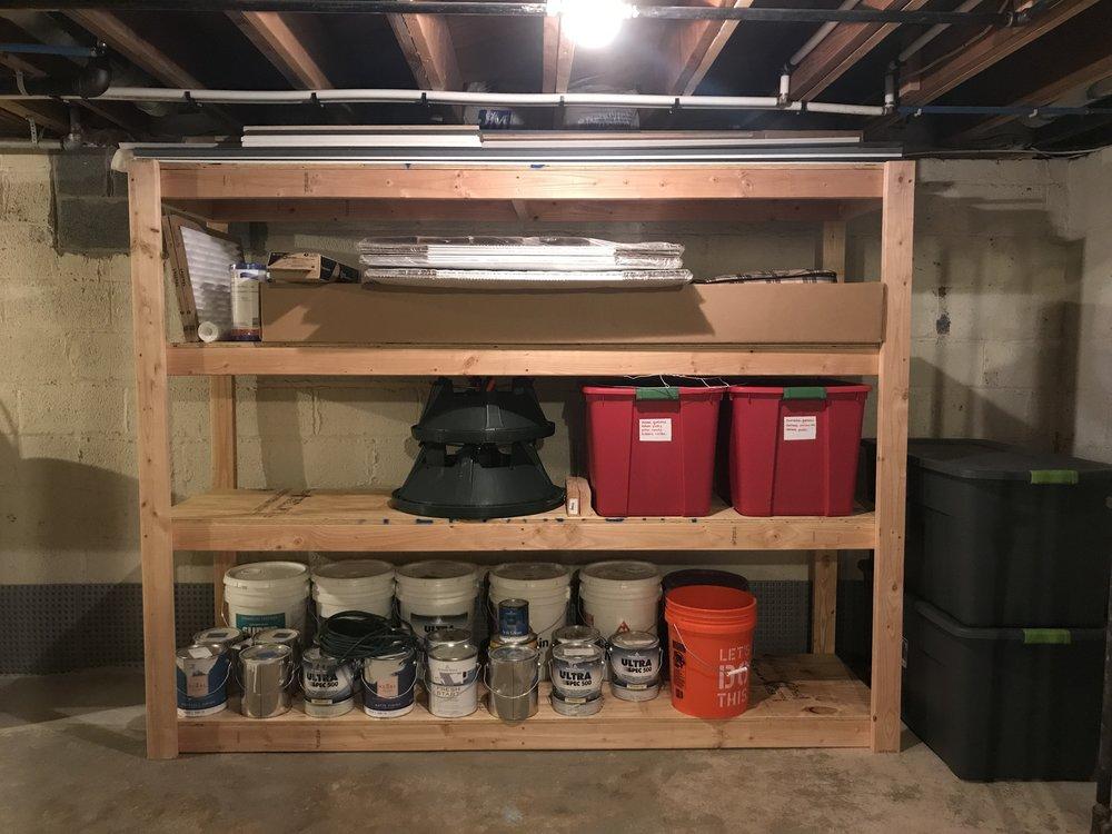 Etonnant Artemis Lin Design   DIY Utility Storage Shelving   Simple Ladder Frame  Support