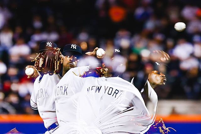 Click-click-click-click 📷 . . . #nyy #yankees #luisseverino #severino #sevy #pinstripepride #multipleexposure #trickphotography #canon #canonusa #sportsphotography #yankeestadium #mlbphotos #mlb #nyc #ig_nycity #nycprimeshot #usaprimeshot