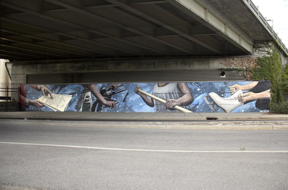 Mural for the City of Ottawa Underpass Program