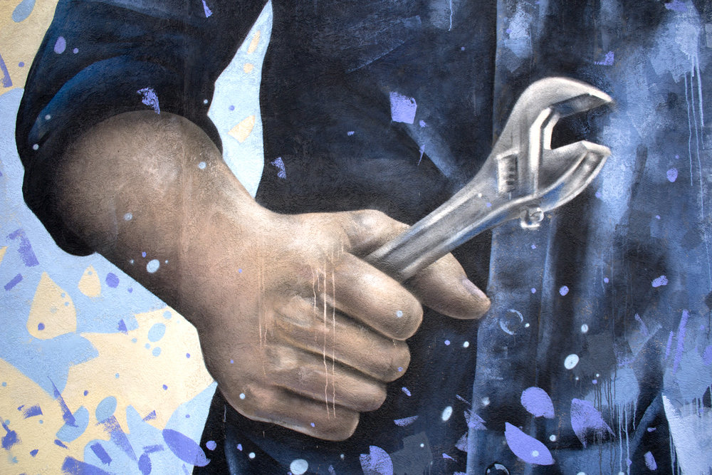 Mural for the Wellington West BIA (detail)