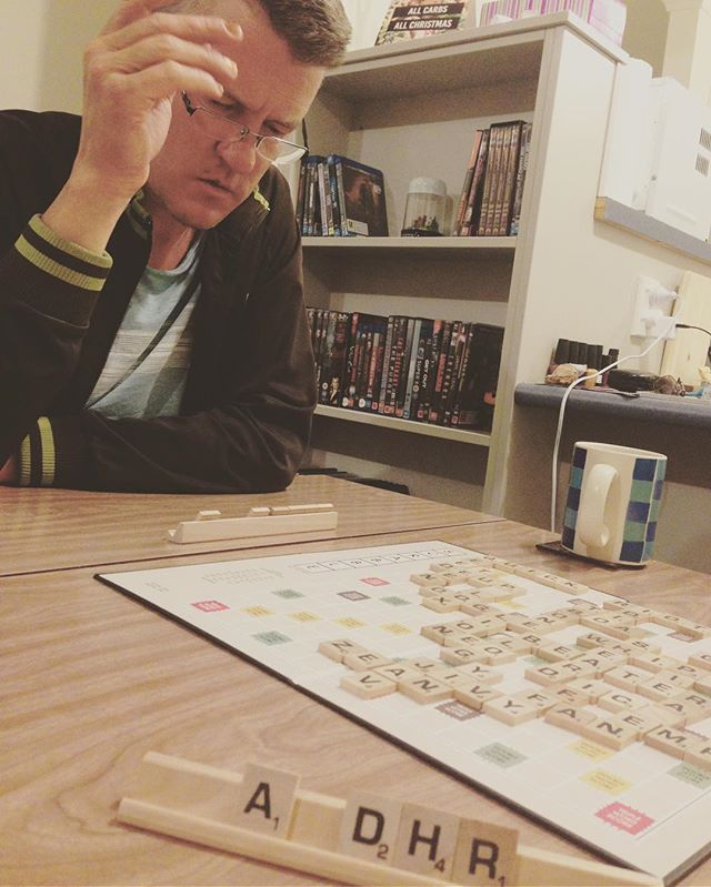 Wickus on what is surely one of the last rounds... #scrabble #intensity