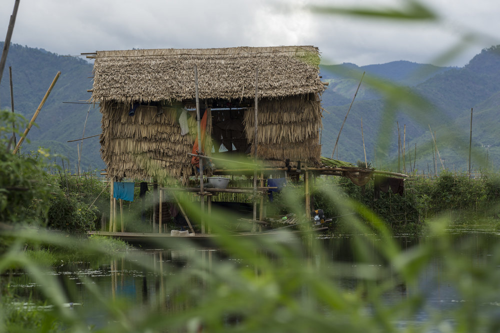 A small home on Inle Lake.