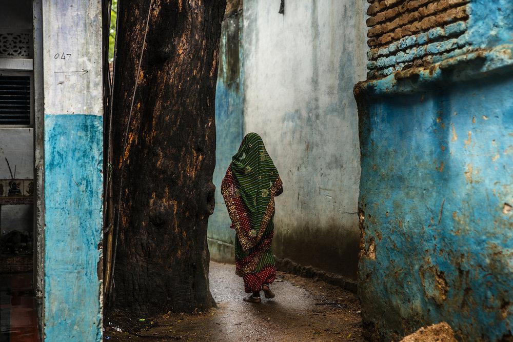A Hindu lady in Khajuraho.