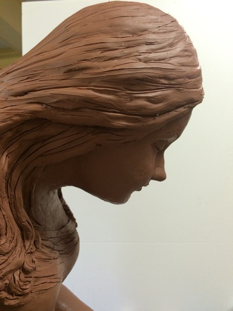 Clay sculpture in progress