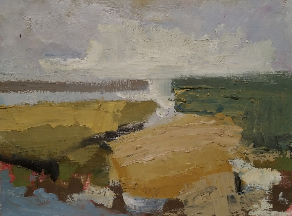 Afternoon Marsh  oil on panel 9 x 12 inches  SOLD