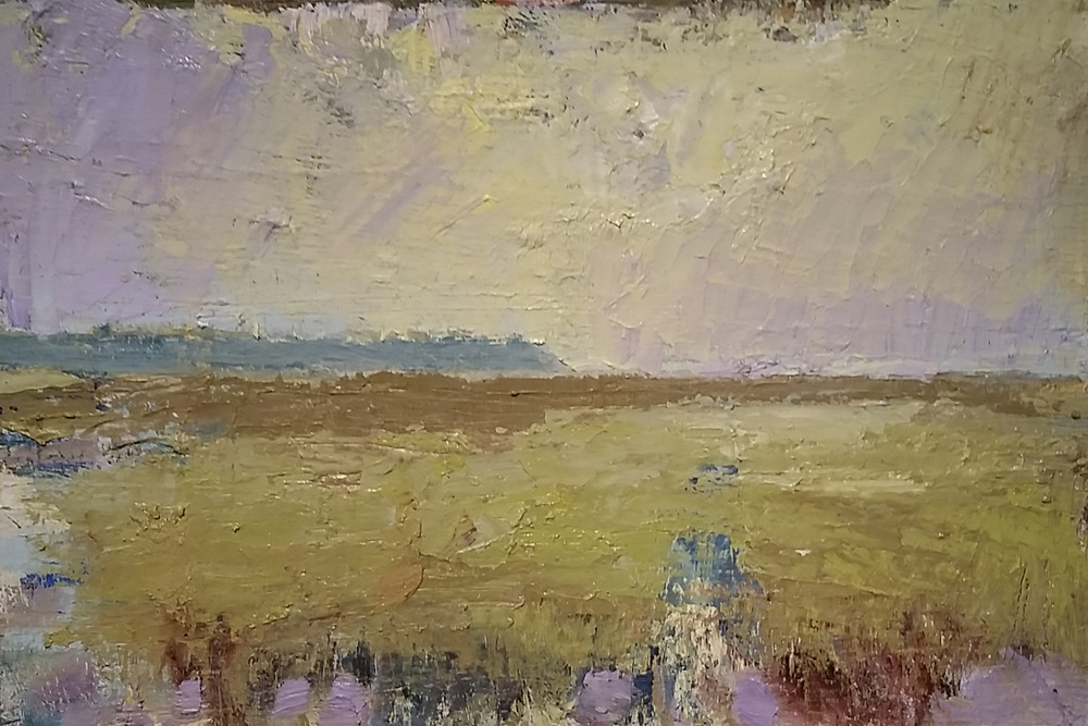 Purple Sky  oil on panel 8 x 12 inches   SOLD