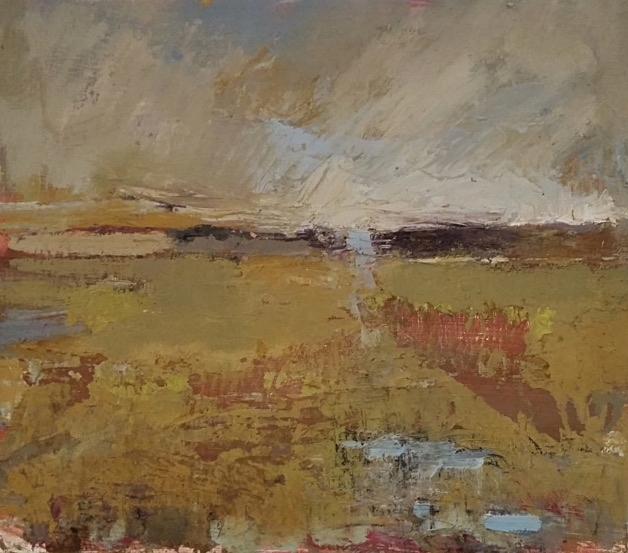 Autumn Marsh  oil on panel  12 x 14 inches   SOLD