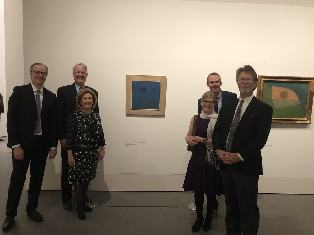 OJAC Staff and Board Members attended the opening reception of Paul Klee:  Construction of Mystery.  This exhibition   will be on view at the Pinakothek de Moderne from March 1, 2018 - June 6, 2018.