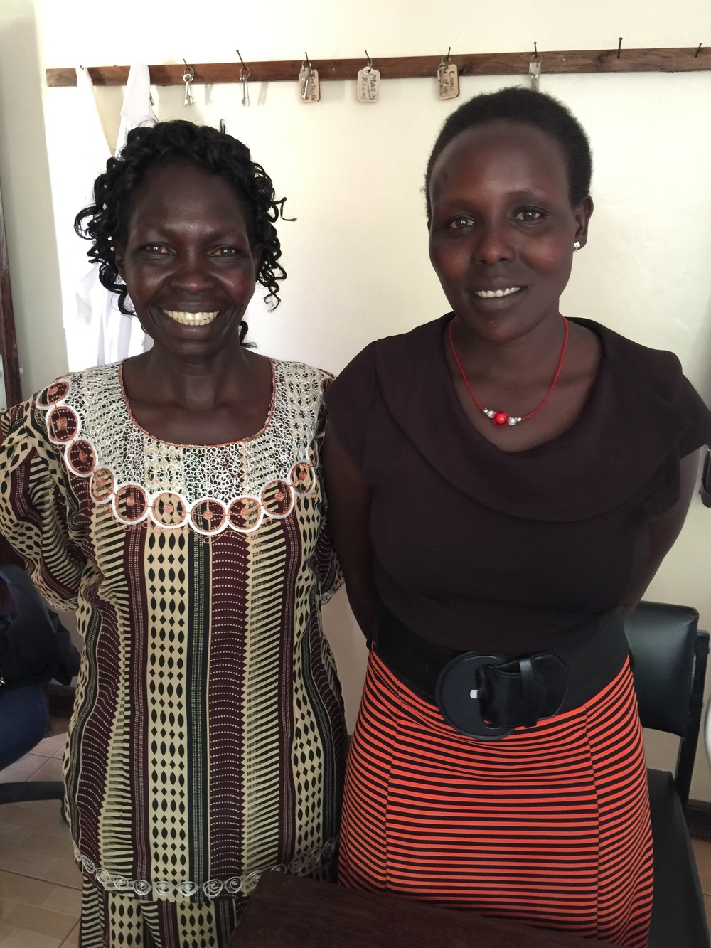 Helen and Faith, two of the three community health workers we've hired at Fluorspar Clinic in order to support the chronic disease program.