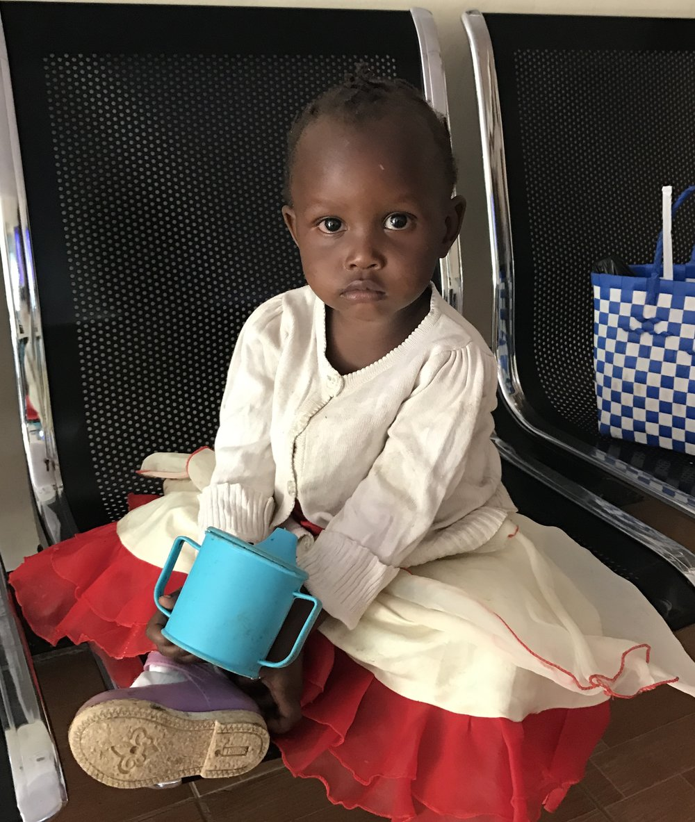 An adorable little girl who came to the clinic with her mother.
