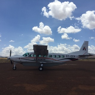 Our sturdy chartered flight, expertly piloted by two Kenyan women