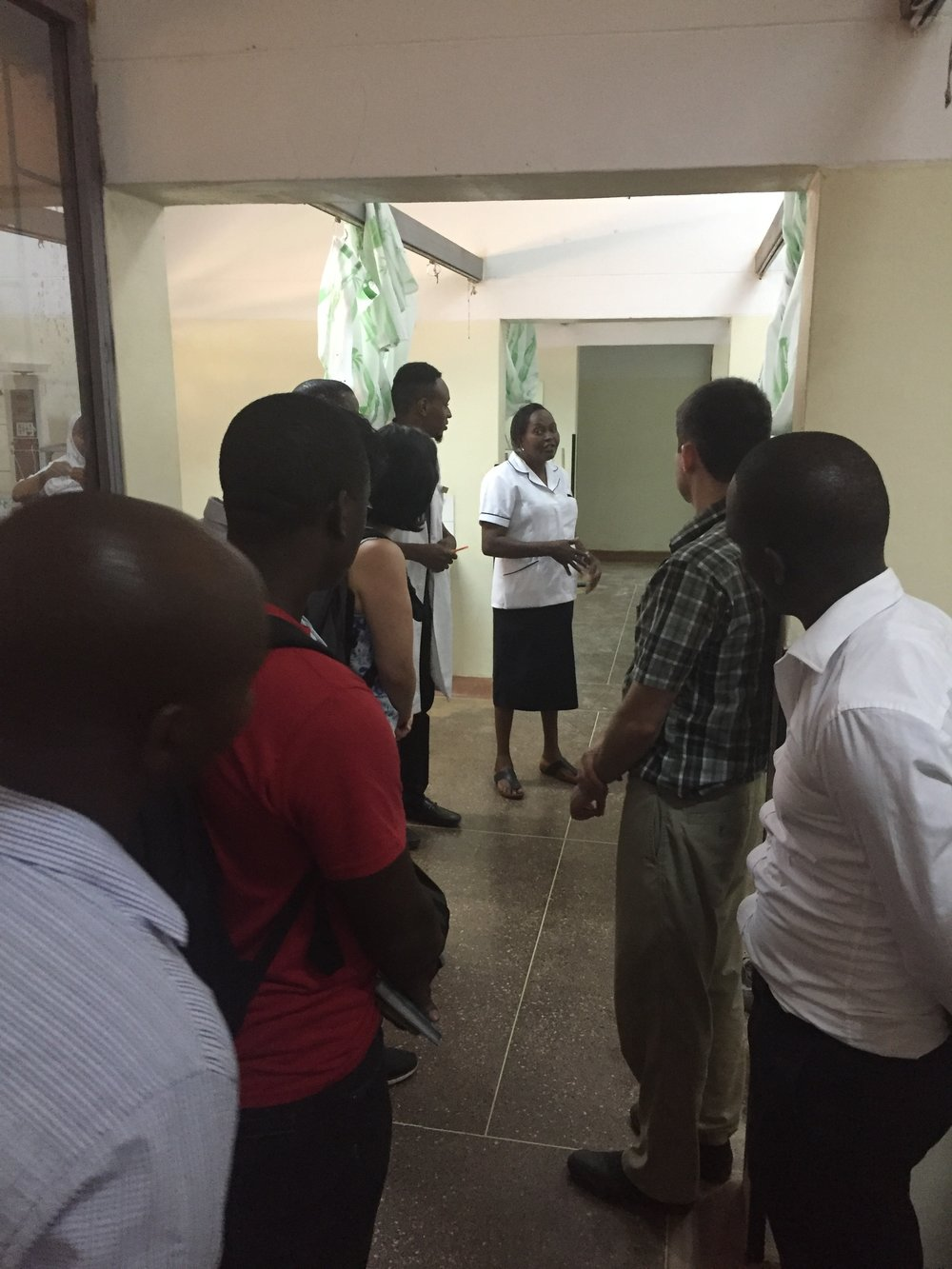Touring the maternity ward and paeds rounds with Nurse Faria and Deputy Matron Magdalene