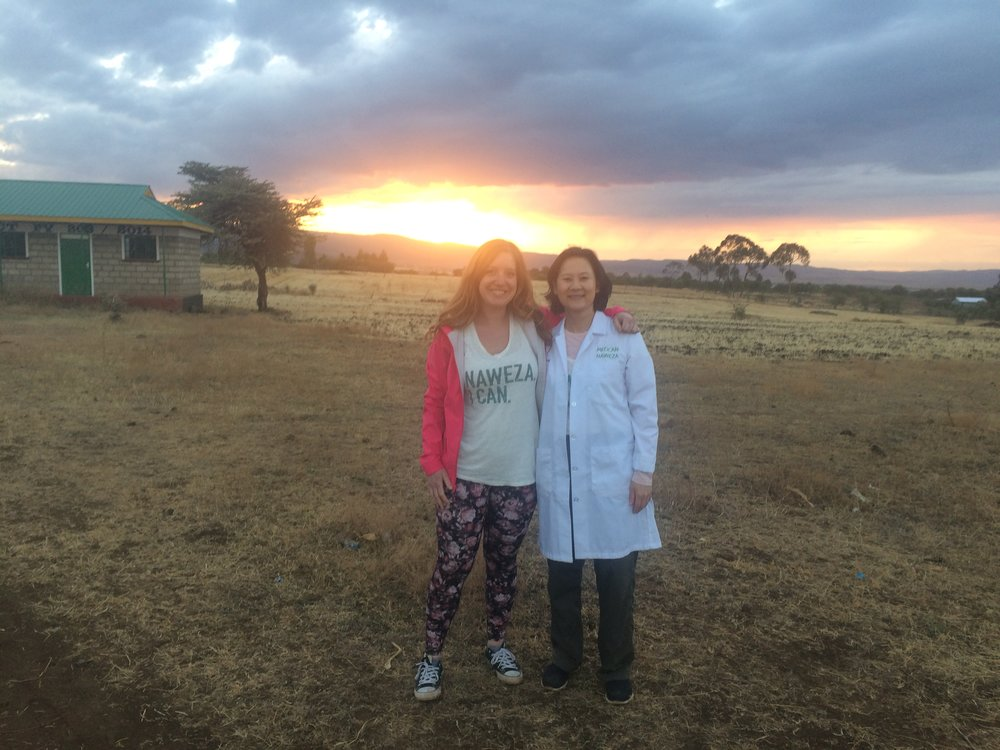 Vanessa Churchill, Registered Nurse, and Dr. Sue Wong have big smiles at the end of the outreach