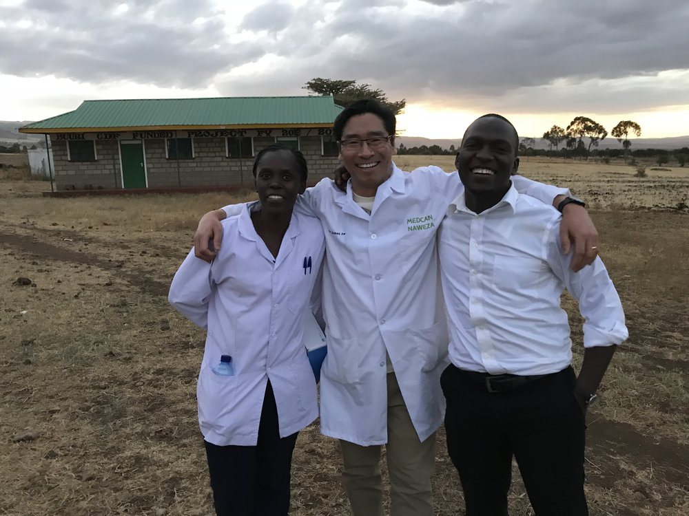 Lydia, Dr. James and Hagai toward the end of the outreach. James' blog on his day is next