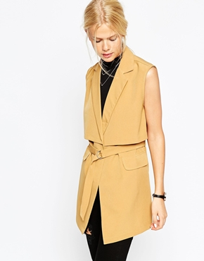 Sleeveless Trench Jacket - $105