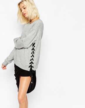 Laced Crop Sweatshirt - $109 CDN