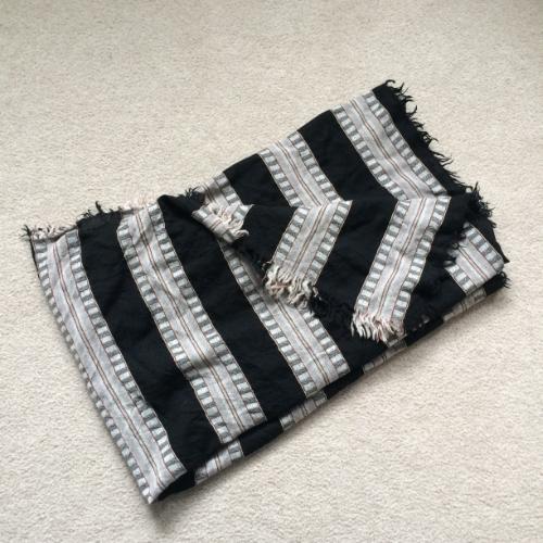 aritzia blanket scarf stripes brittany lauren