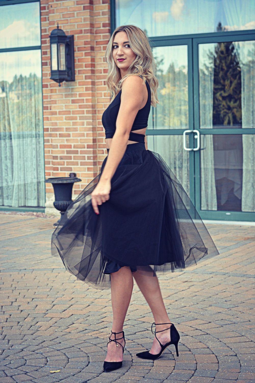 brittany lauren tutu skirt windor store blonde ootd heels