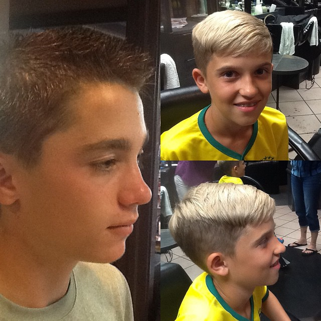 Can you say handsome? Bring your kiddo along and we'll cut their hair too. #boyscut #crewcut #hair