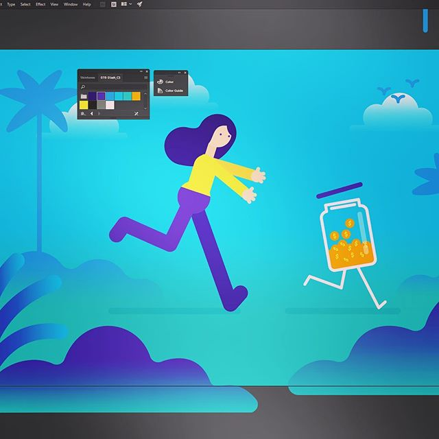 Style frame central at casa Tibbs. Need me some more hands! #Adobe #Illustrator #MotionGraphics