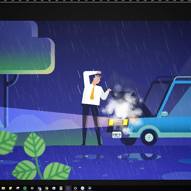 A little whip for my current job 🌧 #MotionGraphics #Animation #Adobe #AfterEffects #Freelance