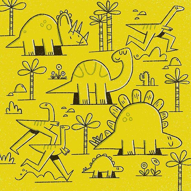 More experiments in simplifying my Dino's 🌴 🦕 ✏️ . . . #designer #illustration #illustrator #nothingisordinary #artsy #procreate #procreateartist #freelance #artstagram #itsnicethat #supplyanddesign #dinosaur #dino #dinoart