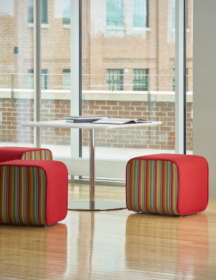 Cumberland Elle Ottomans with duo fabrics