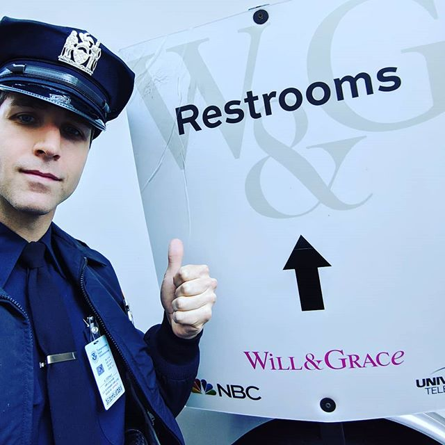 I've always thought that New Year's resolutions we're stupid and silly. But last year, I made one anyways. My resolution was to be the police officer for the audience restrooms on a hit TV show. Everyone said it was stupid and I should make a real resolution and try to better myself. Well look who bettered himself. . . Check back tomorrow for next year's resolution. . . . . . . #NewYear #NewYearsEve #NewYearsResolution #Restroom #Police #Officer #Selfie #PoliceOfficer