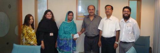 "On May/3/2010, Sara Mukhtar received third scholarship (Rs. 11,100) to cover for her 3rd year tuition fee at NED University of Engineering & Technology. Sara is very much enjoying her studies in Computer Systems Engineering department and would like to share the following with the world.  Follow You Dreams  (Sara Mukhtar).  It has been my dream to study and graduate as a Computer Engineer from NED University of Engineering and Technology. Computers have been my biggest interest since very early age. I have worked really hard throughout my life to accomplish my goal. It has been a challenging journey as well. My father passed away when I was only 10 years old, since then it has been my mother who did her best so that I can continue with my studies.  After high school when I came to know that I have been accepted in NED University I felt like on top of the world. It was a great opportunity to fulfill my dream. Finances have been a big challenge for me especially in the absence of my father. I have not allowed financial challenges hold me back. Once I was in NED University, I applied and received a scholarship from Koshish Foundation. This scholarship has made my journey easy. I really believe that one should continue her effort and not let the challenges and difficulties discourage you. This scholarship has given me more confidence and strength to work even harder. By the grace of Allah now I am in 3rd year of engineering and very near to my graduation.  In the end I would like to specially thank Koshish Foundation for making ""this journey of proving myself"" easy for me."