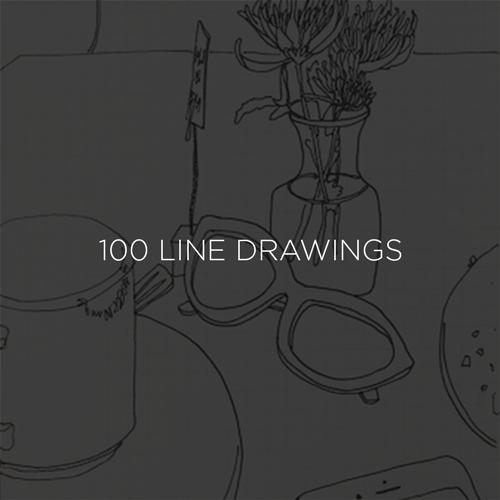 100 Line Drawings