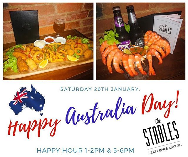 🇦🇺🇦🇺🇦🇺 AUSSIE, AUSSIE, AUSSIE 🇦🇺🇦🇺🇦🇺 Happy Hour 1-2pm & 5-6pm on Australia Day. 🍺🍷🥂 Hot seafood platter for two that will put your taste buds on overload!! 😳😳😳 Mouth watering 1/2 Kg prawn bucket and and 2 craft beers of your choice 🤤🦐🤤🦐🤤🦐 Saturday 26th Jan at The Stables Craft Bar 👌👌👌 #australiaday #stablescraftbar #craftbeers #finewine #ascot #racecourserd #seafoodplatter #prawnbucket #brisbaneaustraliaday #brisbanefoodie