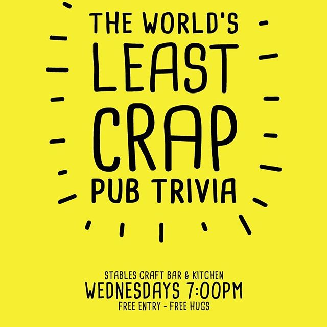 Trivia tonight at The Stables Craft Bar & Kitchen. Great prizes up for grabs!! Awesome food & drinks!! Get your crews together, see you there at 7pm 😀. #trivia #trivianight #stablescraftbar #ascot #racecourseroad #craftbeer #goodwine #fonzieabbott #blackhopsbrewing #philterbrewing #newsteadbrewingco #brisbane #brisbaneeats #brisbanefoodie
