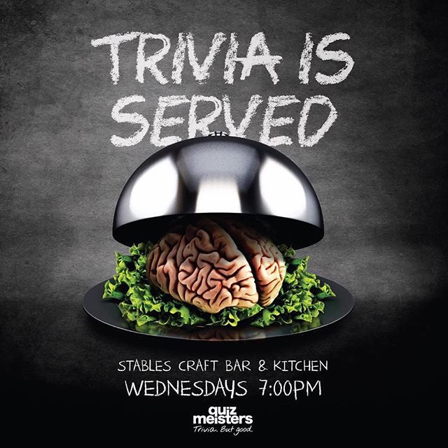 Just your weekly reminder that TRIVIA IS SERVED, tonight from 7pm. Get your teams together it's going to be a cracker 🤓🎉🍻🍷