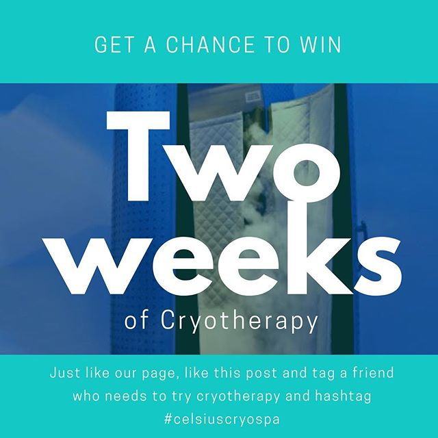 2 weeks of free cryotherapy up for grabs!! Who wants it?? Follow the instructions in the photo. We will announce a winner Friday Evening!! . . #celsiuscryospa #cryotherapy #cryospa #contest #giveaway #instagood #health #wellness #fitness #kellertx #fortworth #southlake #roanoke #watauga  #free #freeze #igfitness #cryo