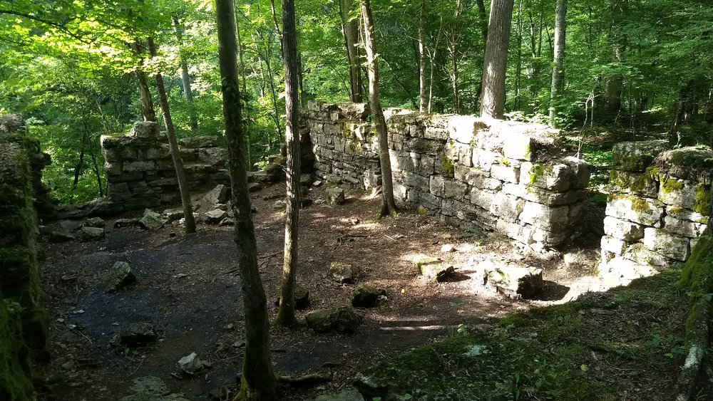 Remnants of the Old Stone Fort Paper Mill