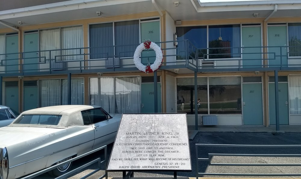 The Lorraine Motel where Martin Luther King Jr. was murdered, this also serves as the front of the museum