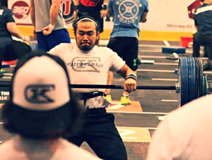 Coach Chris hitting a clean PR during the Granite Games